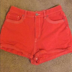 Urban Outfitters l BDG High Waisted Orange shorts